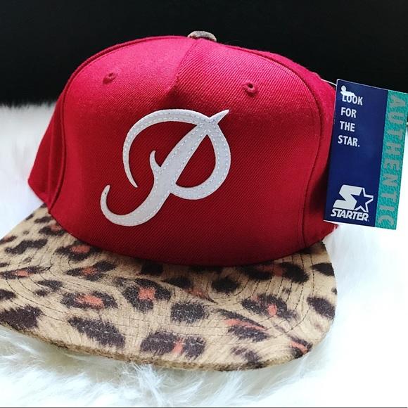 NWT Primitive Classic P SnapBack Hat Leopard Red c6e2ae3f2053